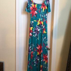 Maxi dress with built in shorts underneath